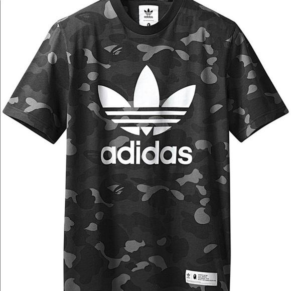 on sale 0d8e3 5cb4f Bape X Adidas Adicolor Tee Cinder XL